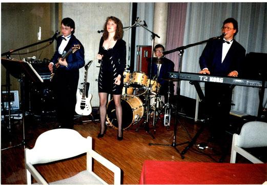 CCB im Rosdorfer Gemeindesaal: (v.l.) Olaf, Kathrin, Bernd und Erwin