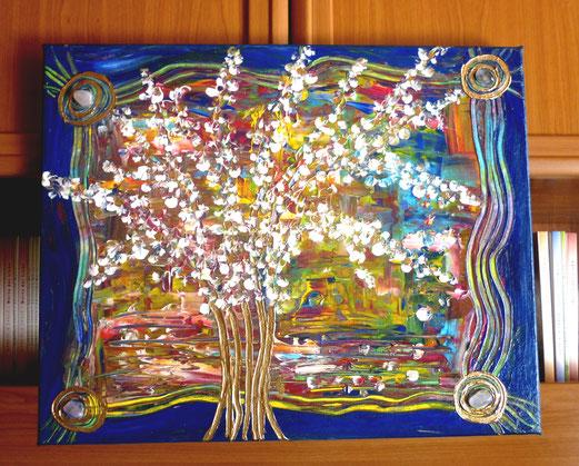 des Lebens reiche Ernte 40x50cm Acryl + Kristalle