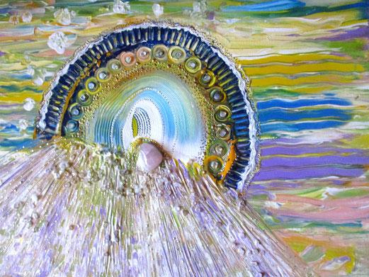 Acryl + Kristalle  40x50cm , Seelenbild