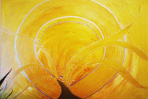 Quelle des Lichtes 60x90cm Acryl