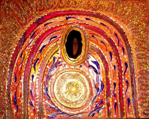 Acryl 24x30cm Achatscheibe