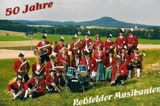 Bild zum 50-jährigen Jubiläum der Rossfelder Musikanten