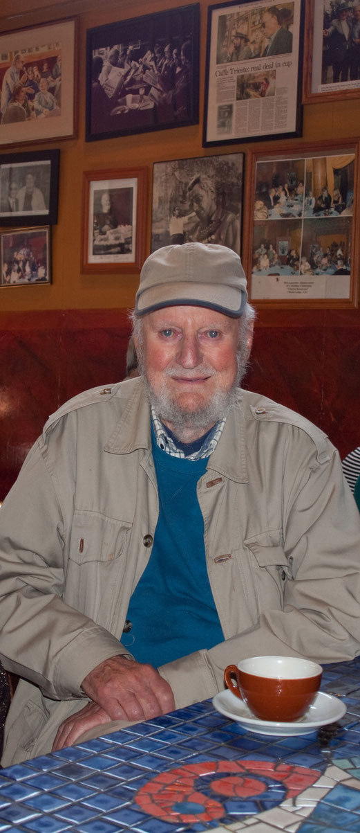 Lawrence Ferlinghetti, Caffe Trieste, San Francisco
