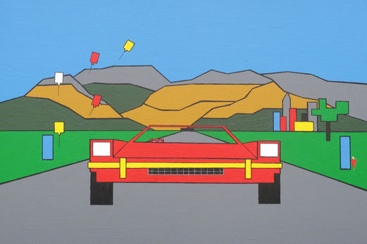 Car-toon, painting by André Schreuder, Netherlands