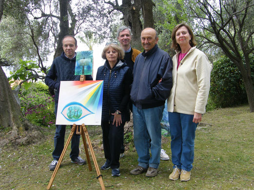 Painters and poets at Villa Pompeo Mariani, Bordighera