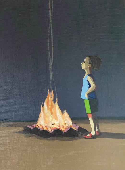 fireplace - Acryl auf Leinwand, 40x30cm, 2020   verkauft