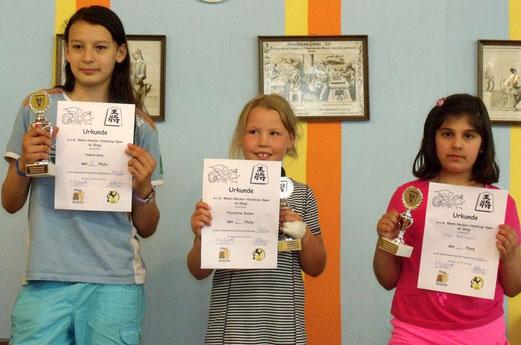 Sieger Mädchen: Yasmin, Florentine, Daban
