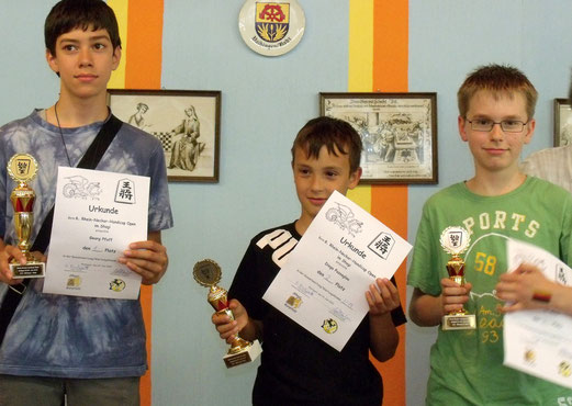 Sieger U14: Georg, Diego, Simon
