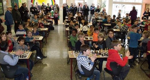 Turniersaal  1 - Volles Haus in der Pelikanschule!