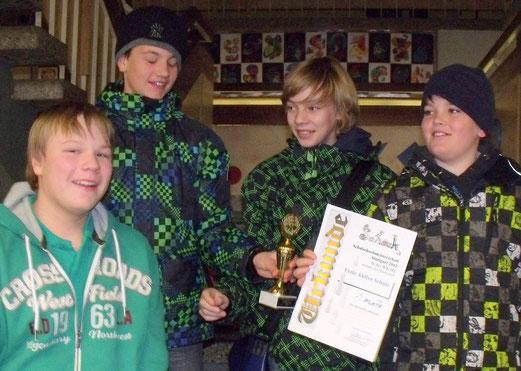Strahlende Sieger: Jan, Torben, Paul und Finn (v.l.n.r.)