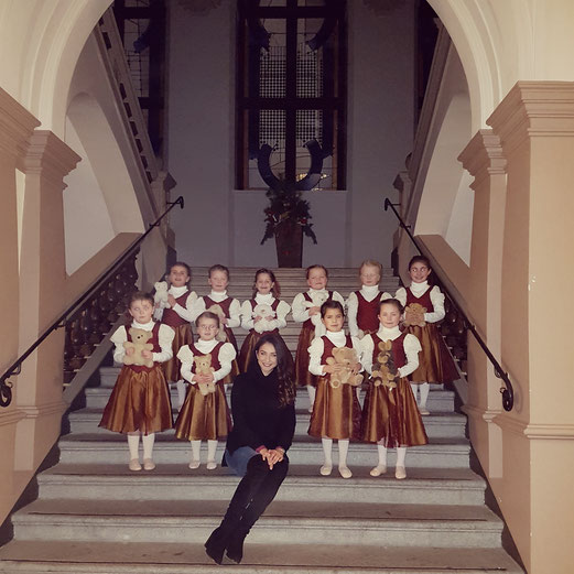 Ballettgruppe der Ballett Akademie Wiesbaden, Sternschnuppenmarkt 2016