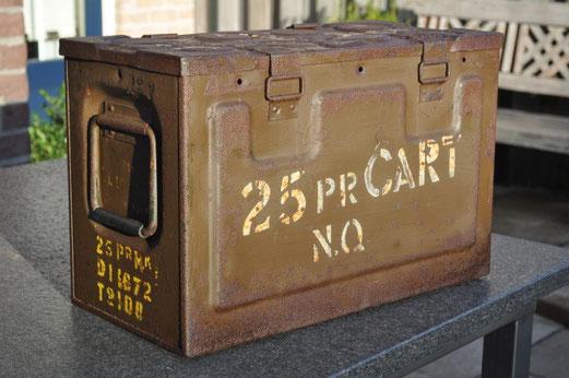 MKI 25 Pr munitiekist uit 1941 © Oorlogsleven