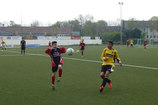 Am Ende sogar zweistellig: TuS C-Jugend im Auswärtsspiel bei TuS E.-West 81 an der Keplerstraße. - (Foto: mal).