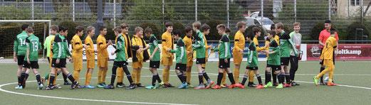 TuS D1-Jugend im Spiel gegen den Rüttenscheider SC. - Fotos: pad.