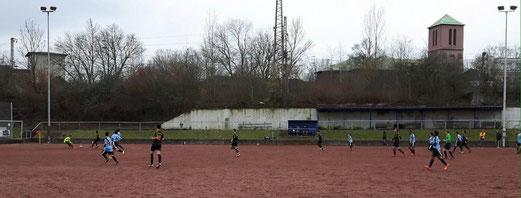 TuS C-Jugend im Auswärtsspiel bei Tgd. Essen-West. - Fotos: p.a.