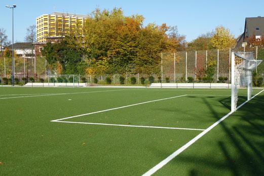 Sportplatz Pelmanstraße, eine Woche vor dem Spielstart, 21.10.2012. - Foto: mal.