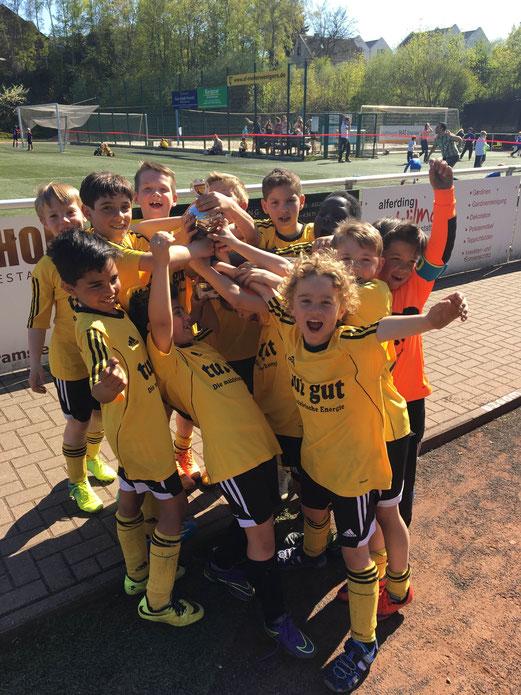 Noch als F1-Jugend, Platz 2 beim F1-Turnier von Sportfreunde Niederwenigern. - Foto: c.k.