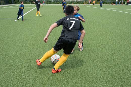 Spiel um Platz TuS E2 - Union Velbert E2 (5:2) - F.: r.f. - Finale, Achtmeterschießen Rheinhsn - Rotthsn (4:1) - F.: mal.