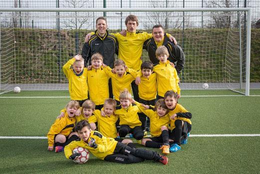 Erfolgreicher Start in die Spielrunde im Frühjahr: TuS Bambini 2 an der Hövelstraße. - Foto: r.f..