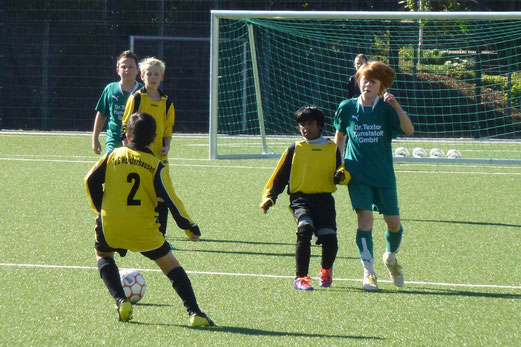 TuS D2-Jugend im Freundschaftsspiel gegen ETuS Bissingheim aus Duisburg (Foto: mal).