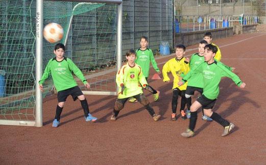 E3-Jugend im Testspiel bei Eintracht Borbeck. - (Foto: p.d.).