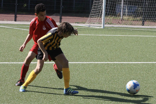 TuS D1-Jugend im Heimspiel gegen FSV Kettwig. - Fotos: pad.