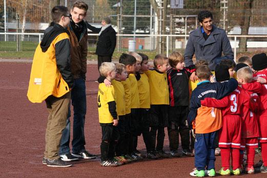 Vor dem ersten Saisonsieg: TuS Bambini 1 am Hallo (Foto: a.k.)