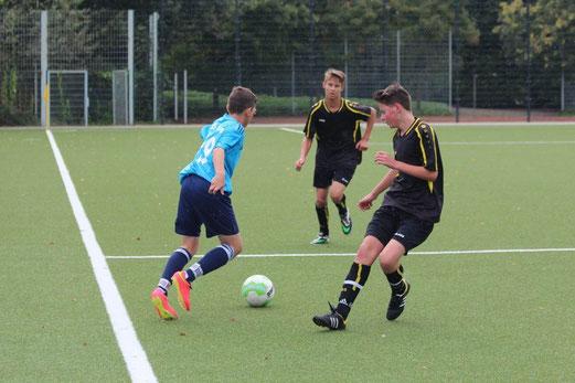 B2-Jugend im Spiel gegen die B2 der SG Schönebeck. - Foto: abo.