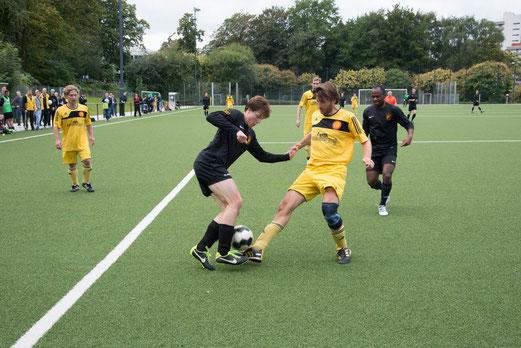 Unter Wert geschlagen: Zweite Mannschaft im Spiel gegen SC Frintrop 2 (Foto: r.f.).