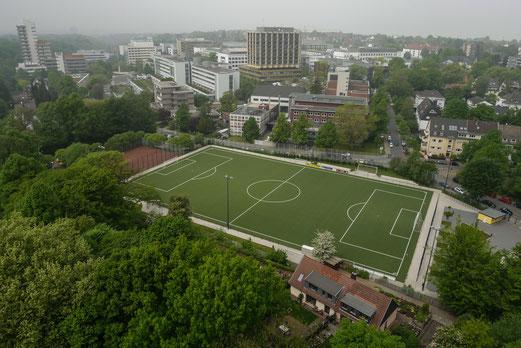 Sportplatz Pelmanstraße, Luftbild 2014.