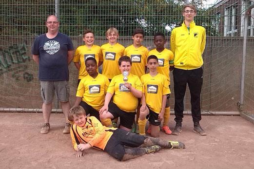 Platz 3 für die E2-Jugend beim E2-Turnier von DJK Eintracht Borbeck am letzten Sonntag. - (Foto: m.b.).