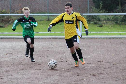 C-Jugend im Auswärtsspiel in Karnap. - (Foto: abo).
