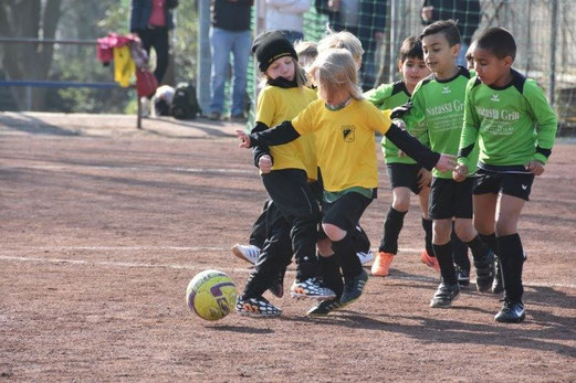 TuS Bambini 2 im Auswärtsspiel bei DJK Eintracht Borbeck. - Fotos: mami.