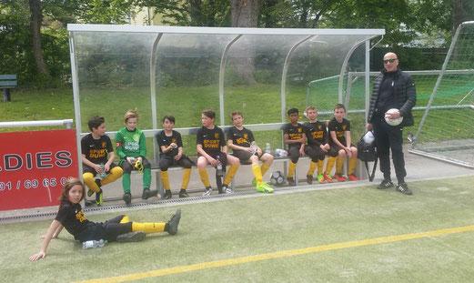 TuS D2-Jugend im Auswärtsspiel am Frintroper Wasserturm. - Foto: m.d.