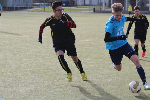 TuS B2-Jugend im Auswärtsspiel in Schönebeck. - Foto: abo.