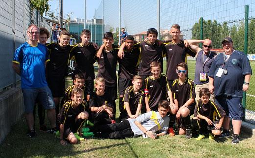 Fotos der TuS C- und A-Jugend in Rimini: abo.