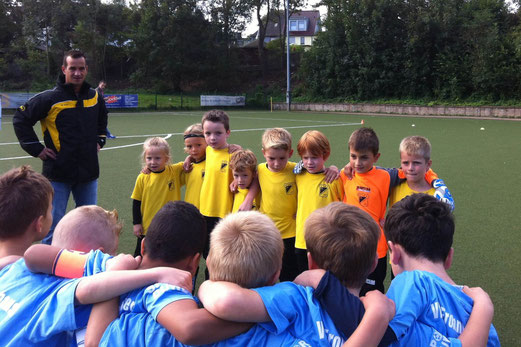 Gute Leistung trotz Niederlage: TuS Bambini 1 in Frohnhausen. - Foto: p.a.