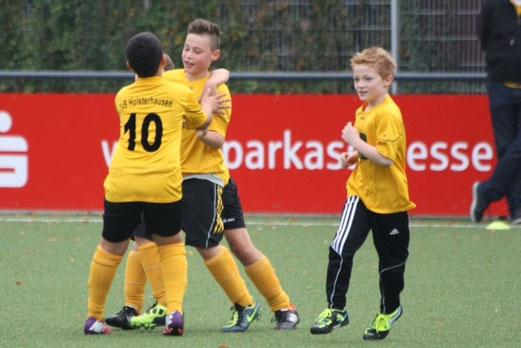 TuS E2-Jugend im Spiel gegen TuS Essen-West 81 E2 (Foto: p.d.).