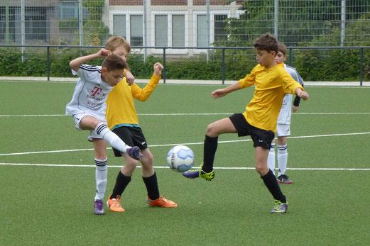 Unnötige Heimniederlage: TuS E1-Jugend im Spiel gegen den ESC Preußen. - (Foto: mal).