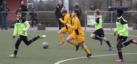TuS D2-Jugend im Auswärtsspiel bei der D2 des ESC Preußen. - Foto: p.d.