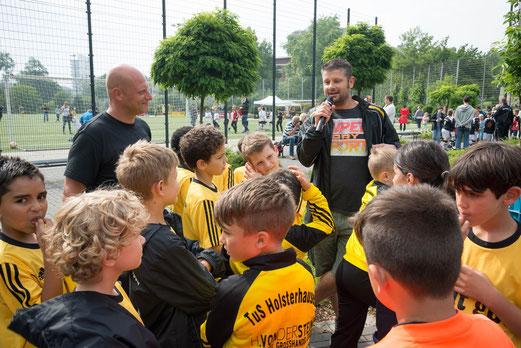 Trainerverabschiedung TuS F1-Jugend. - Foto: r.f.