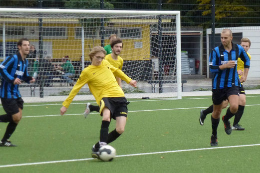 Zweite Mannschaft im Heimspiel gegen VfB Frohnhausen 2. - (Foto: mal).