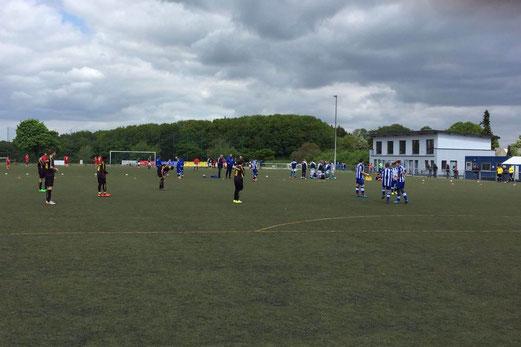 TuS C-Jugend beim Sprocki-Cup in Sprockhövel-Hiddinghausen. - Fotos: m.b. und e.gaspar.