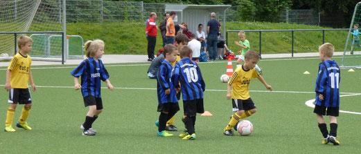TuS Bambini 1 im Spiel gegen den Vogelheimer SV (3:1). - (Foto: mal).