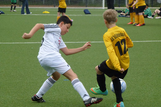Niederlage trotz klarer Führung: TuS E1-Jugend im Spiel gegen ESC Preußen. - (Foto: mal).