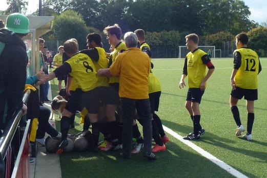 Der Torschütze nicht mehr zu sehen: TuS A-Jugend im Spiel gegen Phönix (Foto: mal).