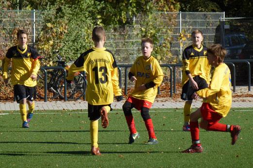 Ungefährdet mit 8:0 gewann die C-Jugend ihr Meisterschaftsspiel gegen den SC Frintrop (Foto: mal).