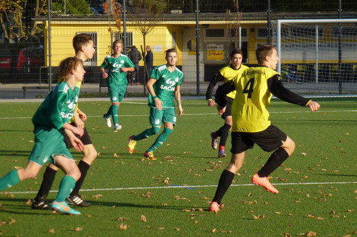 2:1 Führung reichte erneut nicht zum Punktgewinn: B1 im Spiel gegen die SpVgg. Schonnebeck (Foto: mal).