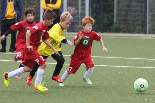 TuS E3-Jugend im Spiel gegen SG Schönebeck E6 (Foto: p.d.).