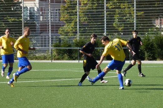 Zweite Mannschaft im Spiel gegen Wacker Bergeborbeck (Foto: mal).